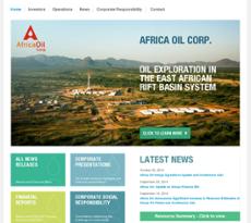 Africa Oil website history
