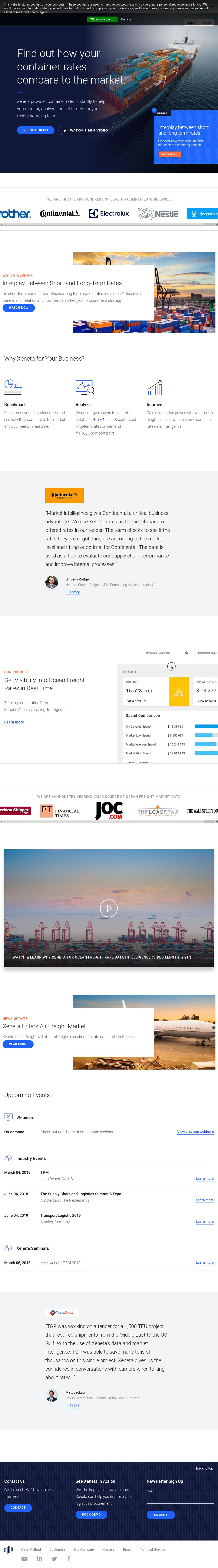 Xeneta Competitors, Revenue and Employees - Owler Company Profile