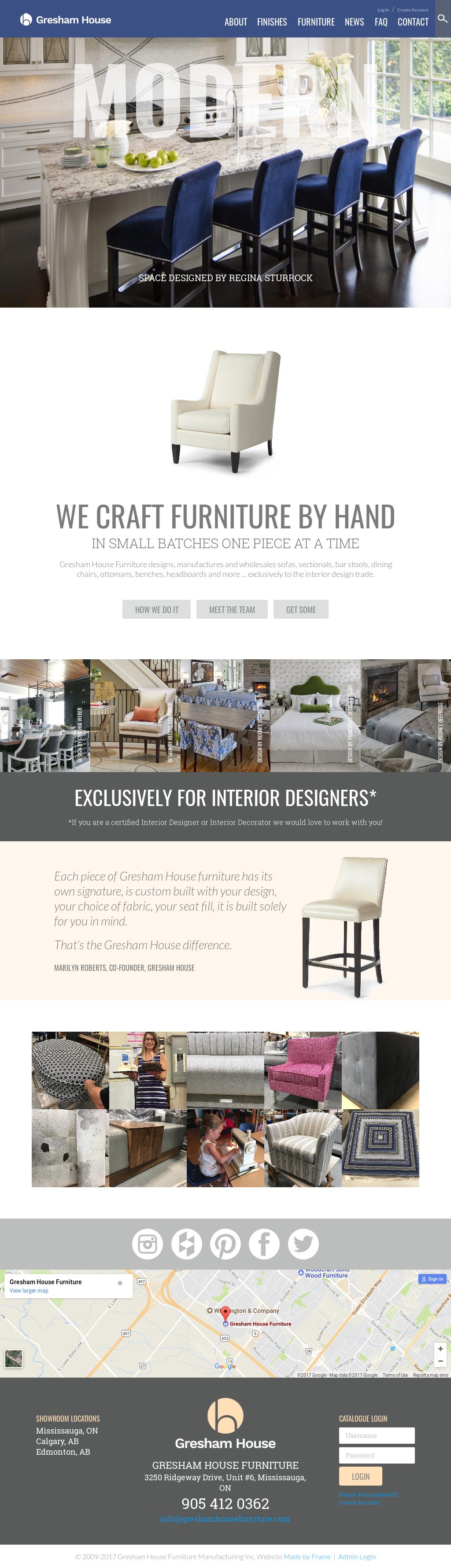 Gresham House Furniture Website History