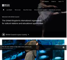 British Council website history
