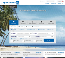 Copa Airlines website history