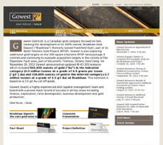 Gowest Gold website history