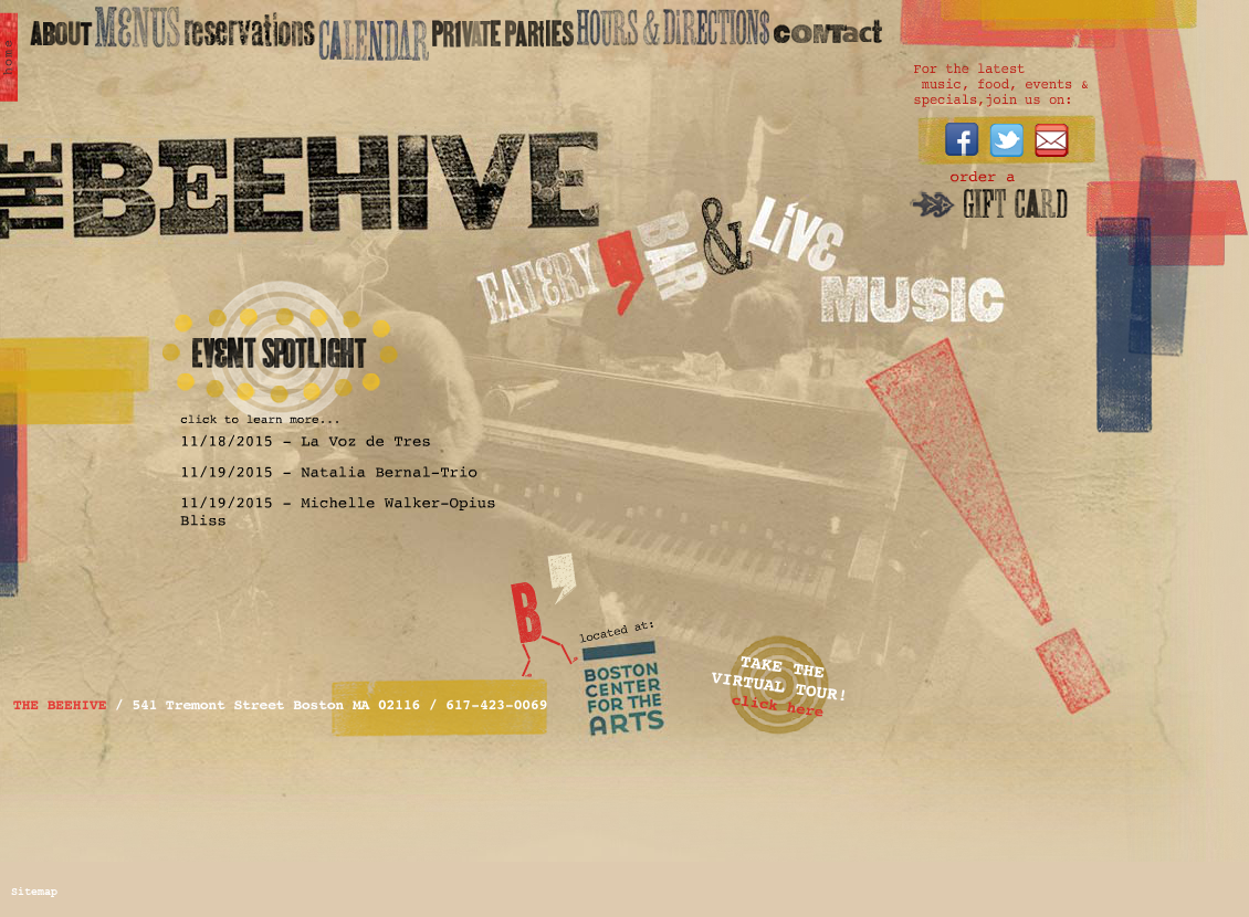The Beehive website history