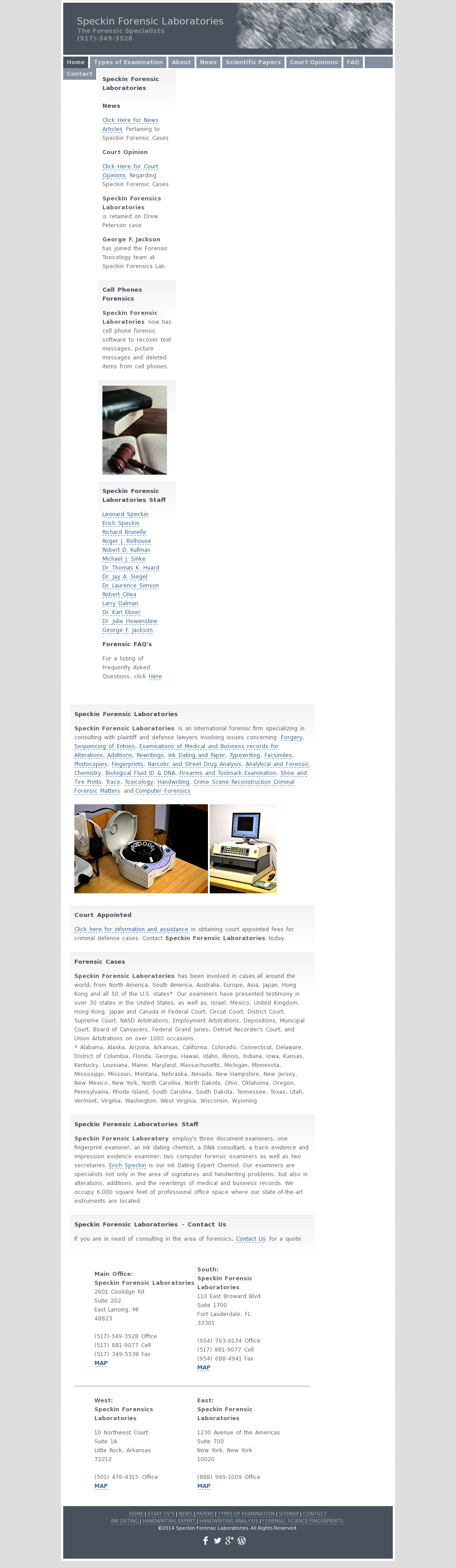 Speckin Forensic Laboratories Competitors, Revenue and