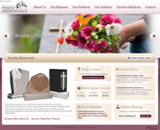 Family Memorials website history