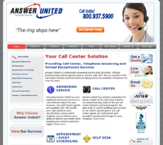 Answer United website history