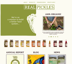 Real Pickles website history