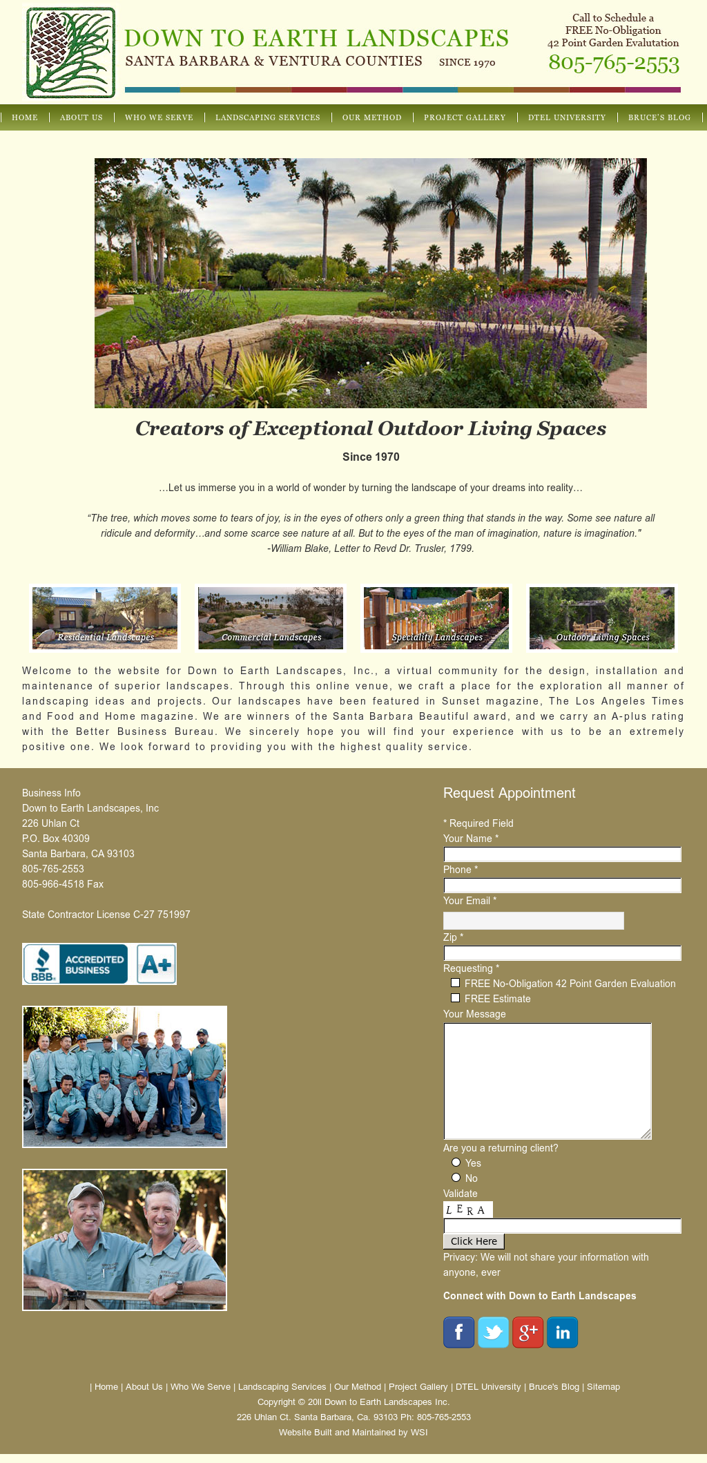 Down To Earth Landscapes Compeors Revenue And Employees