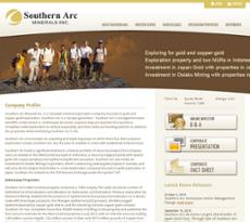 Southern Arc website history
