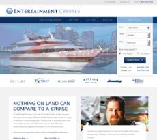 Entertainment Cruises website history