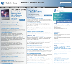 The Linley Group website history