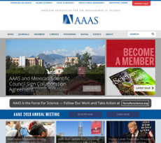 American Association for the Advancement of Science website history