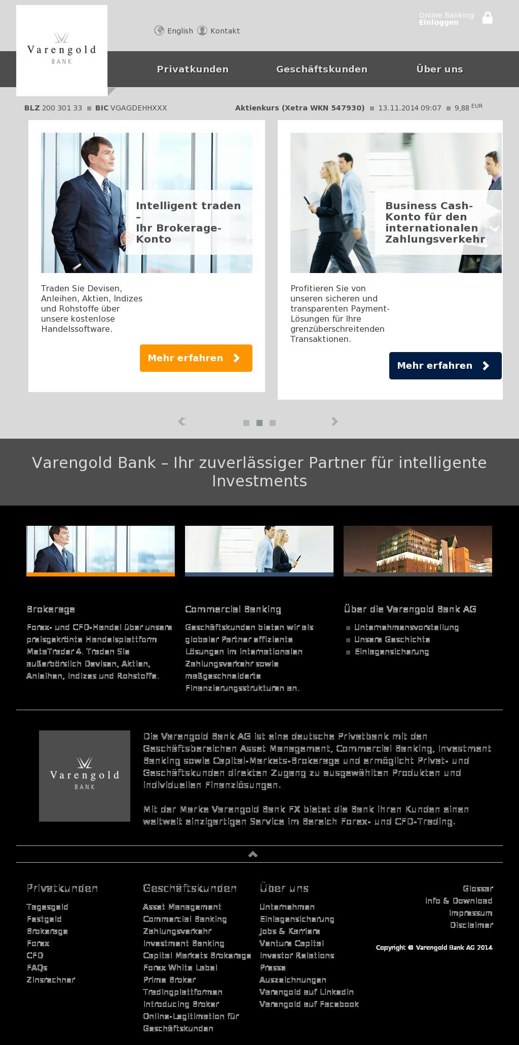 Varengold Bank Rating