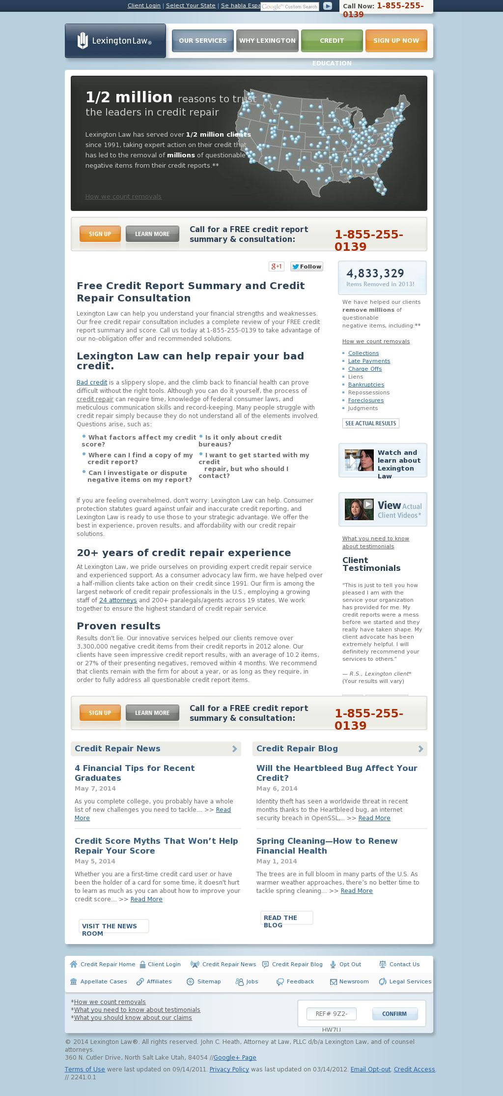 Lexington law credit repair ratings
