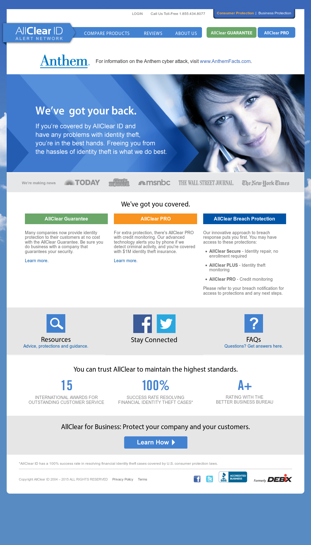 Allclear Id S Competitors Revenue Number Of Employees Funding Acquisitions News Owler Company Profile Allclear id is a little different than most id theft protection services we've used. allclear id s competitors revenue