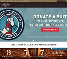 The Gents Place website history