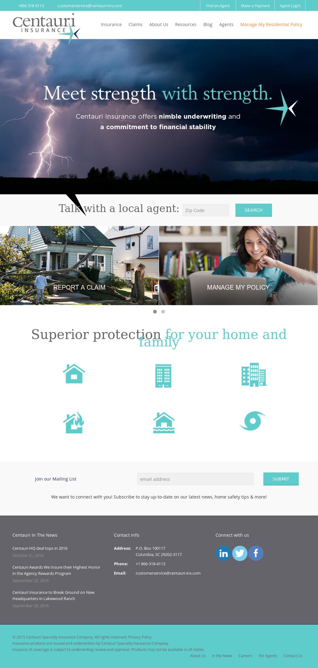 centauri specialty insurance company