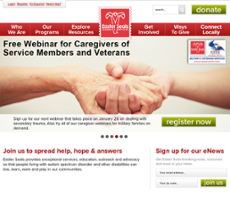 Easter Seals website history