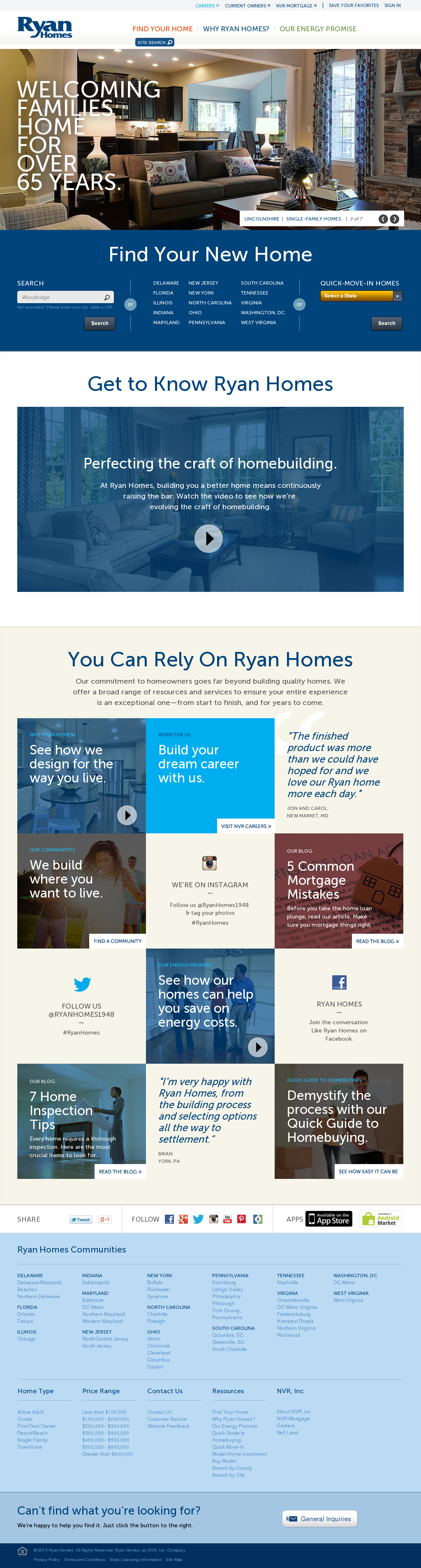 Ryan Homes Competitors, Revenue and