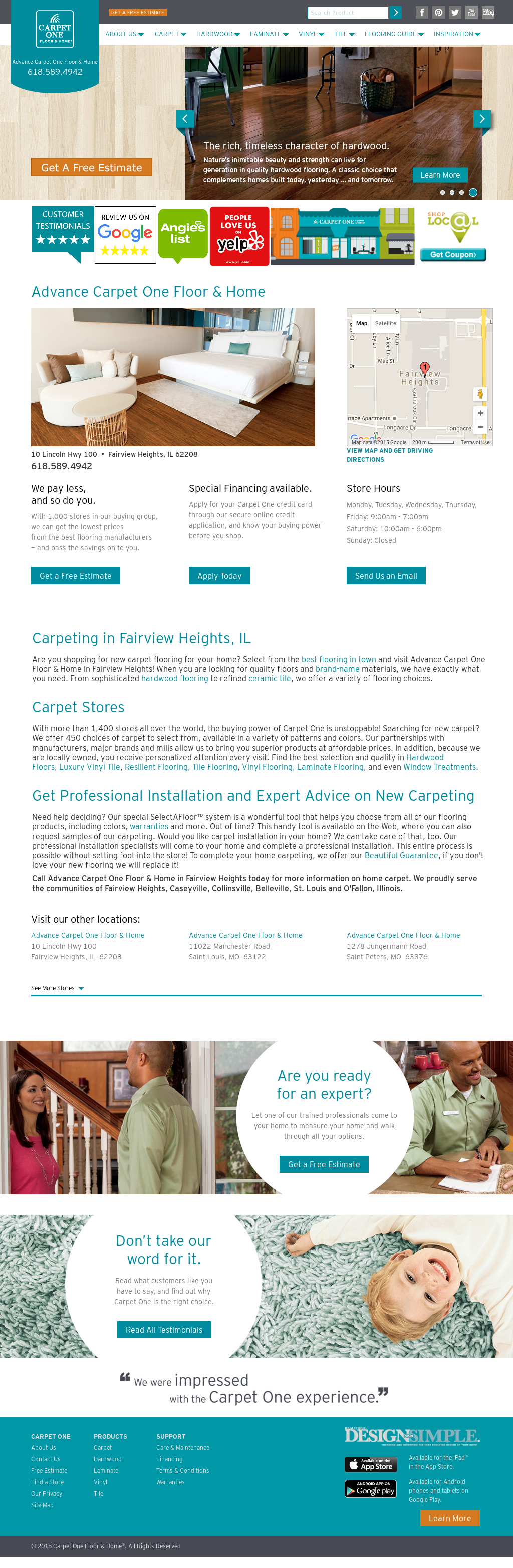 Advancecarpet1Fairviewheights Competitors, Revenue and Employees - Owler Company Profile