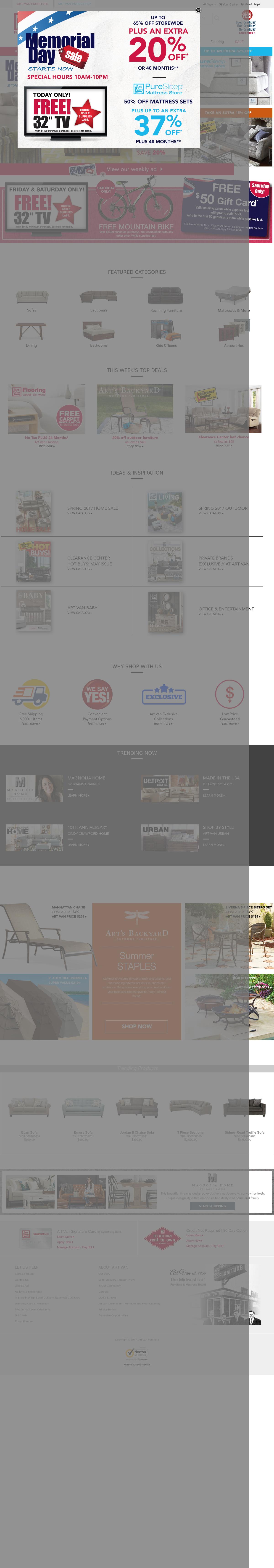 Art Van Website History