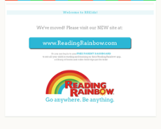 Reading Rainbow website history