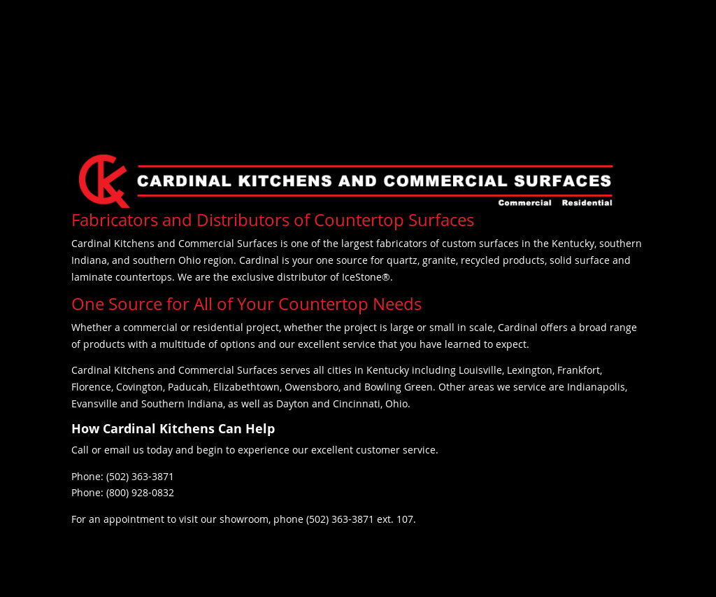 Cardinal Kitchens And Commercial Surfaces Website History