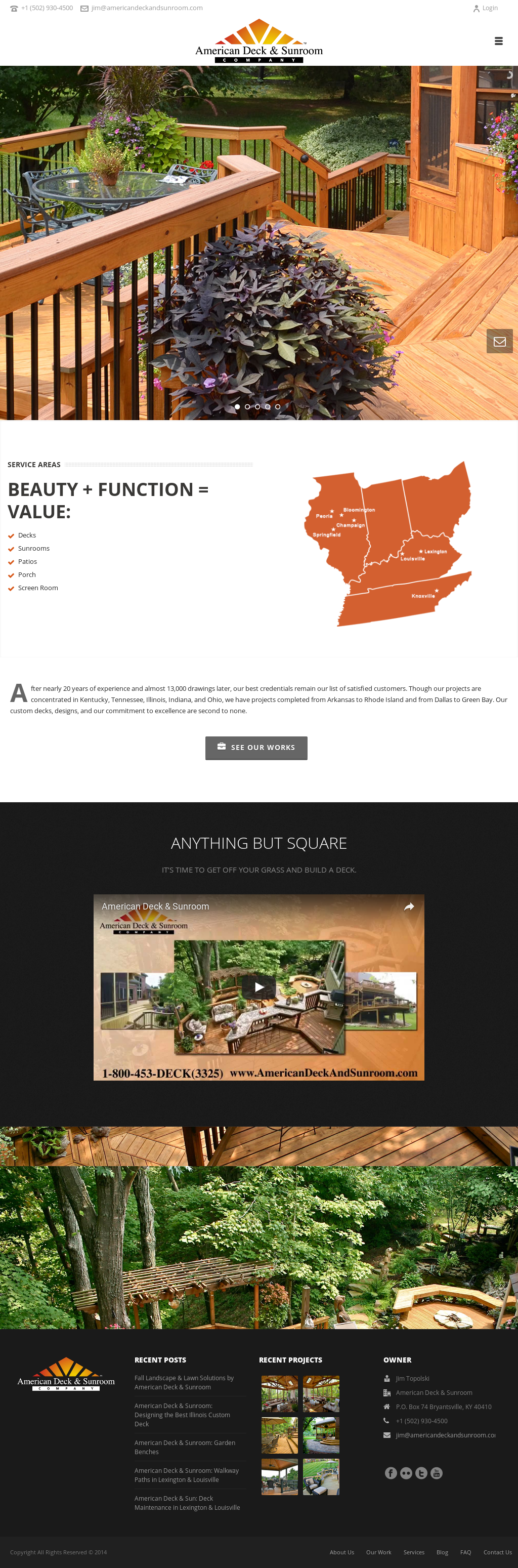 American Deck Sunroom Company Compeors Revenue And