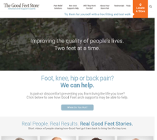 Good Feet website history