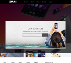 BLU Products website history