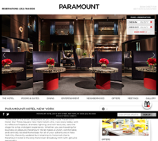 Paramount Hotel website history
