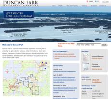 Duncan Park website history