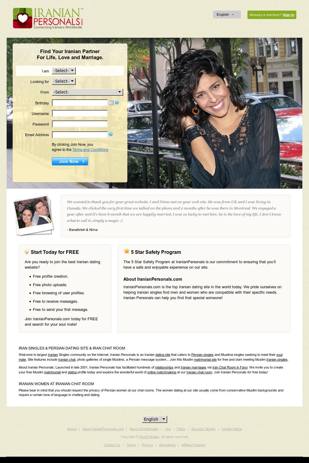 site de matchmaking iranien Dating App Singapour