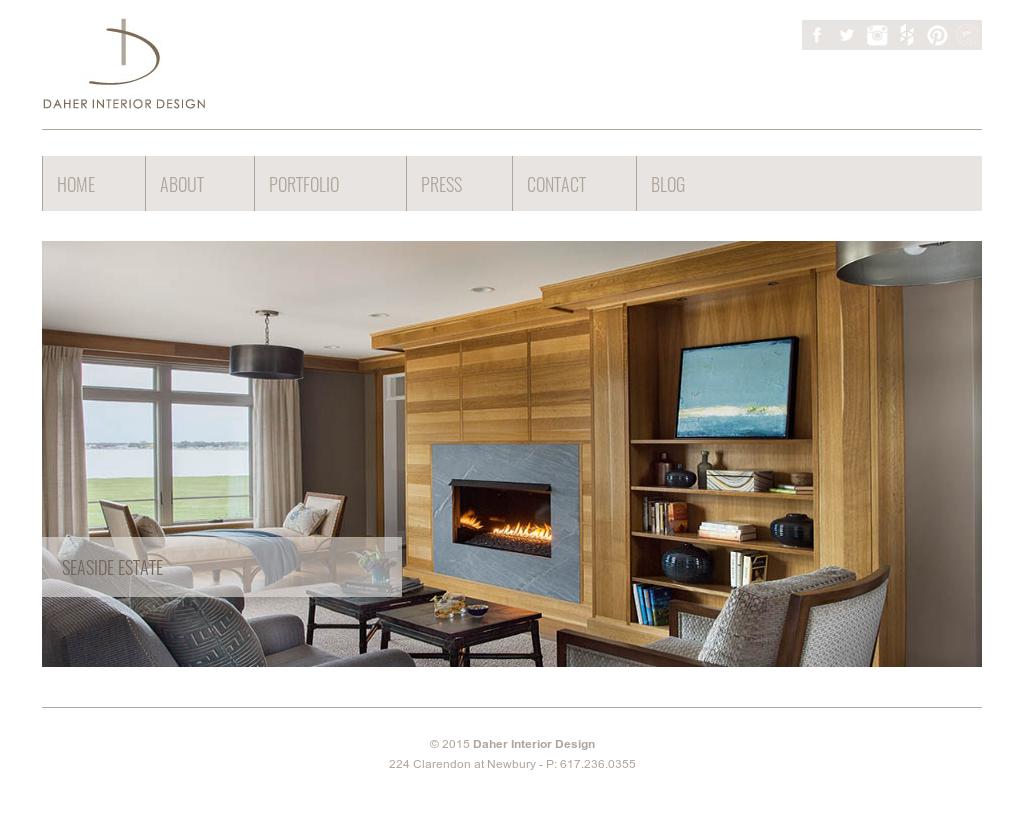 Daher Interior Design Website History
