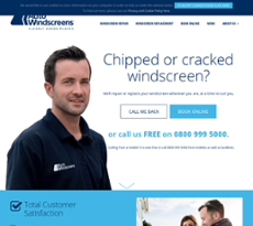 Auto Windscreens website history