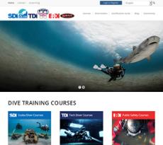 Scuba Diving International website history