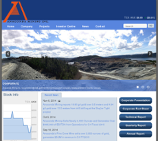 Anaconda Mining website history