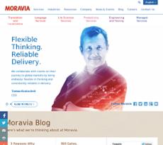 Moravia website history