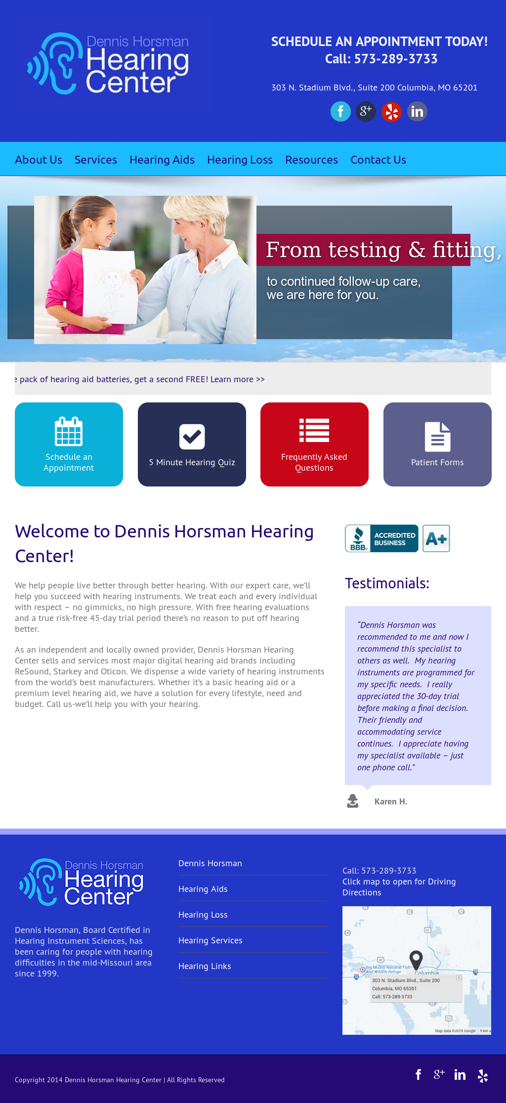 Dennis Horsman Hearing Center Competitors, Revenue and