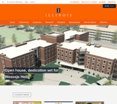University of Illinois  website history