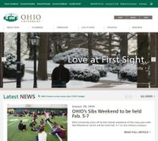 Ohio University website history