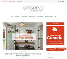 Uniserve Communications website history