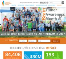 National Brain Tumor Society website history