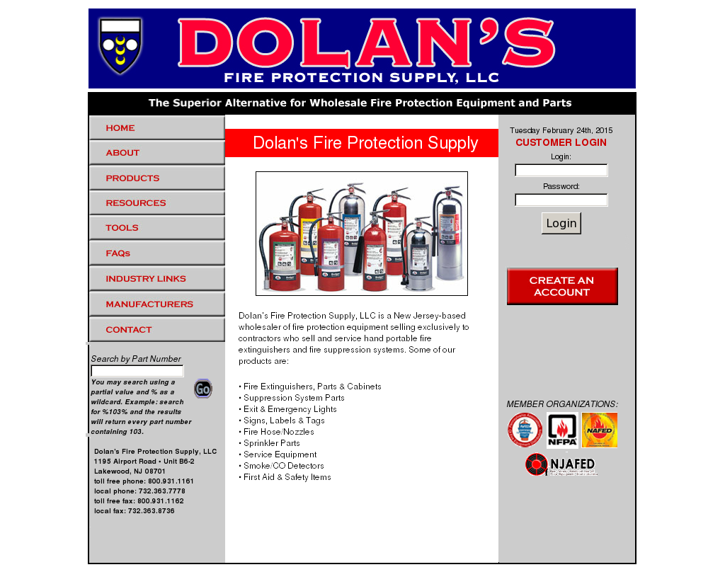 Dolan's Fire Protection Supply Competitors, Revenue and
