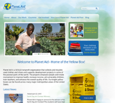 Planet Aid website history