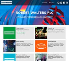 Robert Walters website history