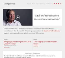 GeorgeSoros website history