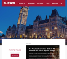 Sussex website history