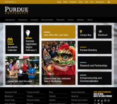 Purdue University website history