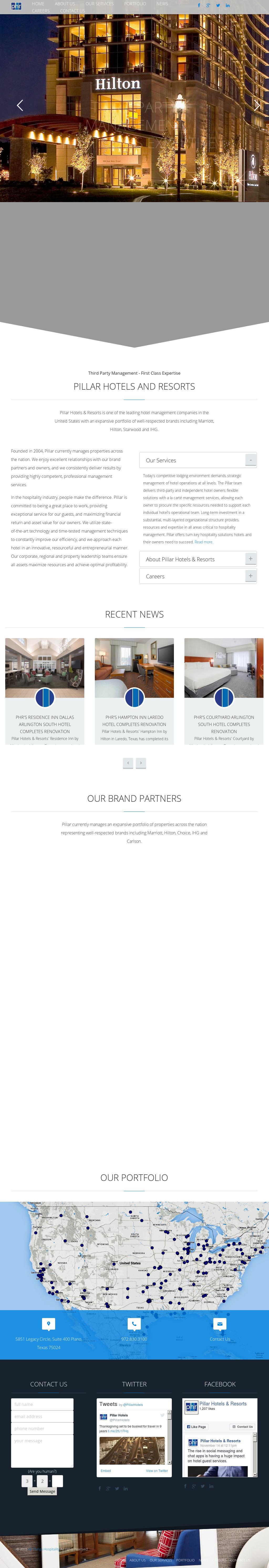 Pillar Hotels And Resorts Website History